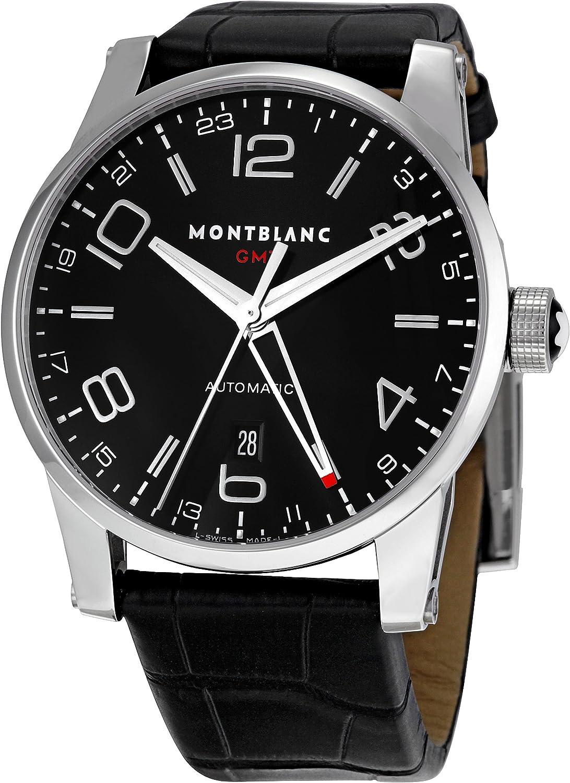 Montblanc 36065 - Reloj para Hombres, Correa de Cuero Color Negro