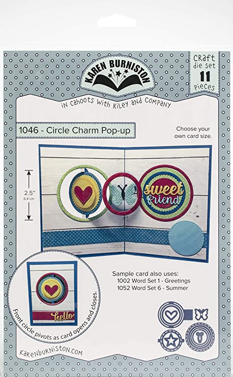 Karen Burniston Pop-up Dies-circle Charm 2.5/""