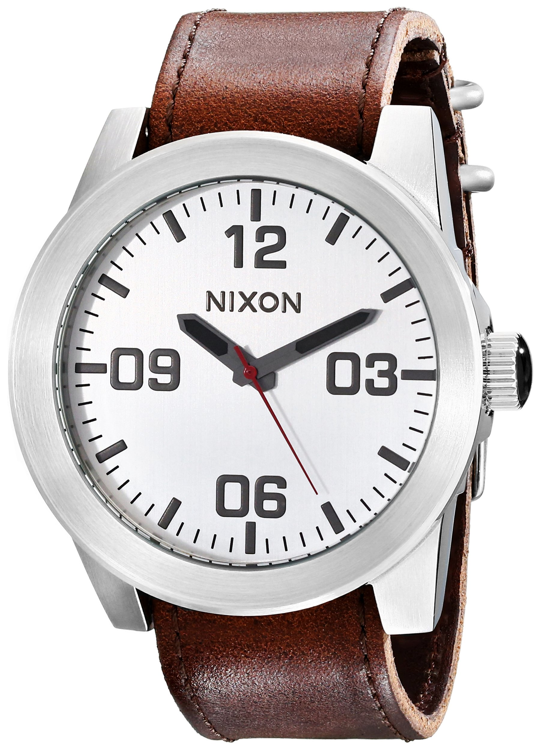 NIXON Men's Corporal Series Analog Quartz Watch / Leather or Canvas Band / 100 M Water Resistant and Solid Stainless Steel Case by NIXON