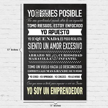 Soy Un Emprendedor Poster Motivacional Para Uso En Casa Y Oficina Comienza Bien Tu Día Recordándote Porque Haces Lo Que Haces Español Language