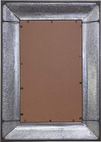 kieragrace Muskoka Boyle Mirror Galvanized Finish, 28 by 40 , D cor