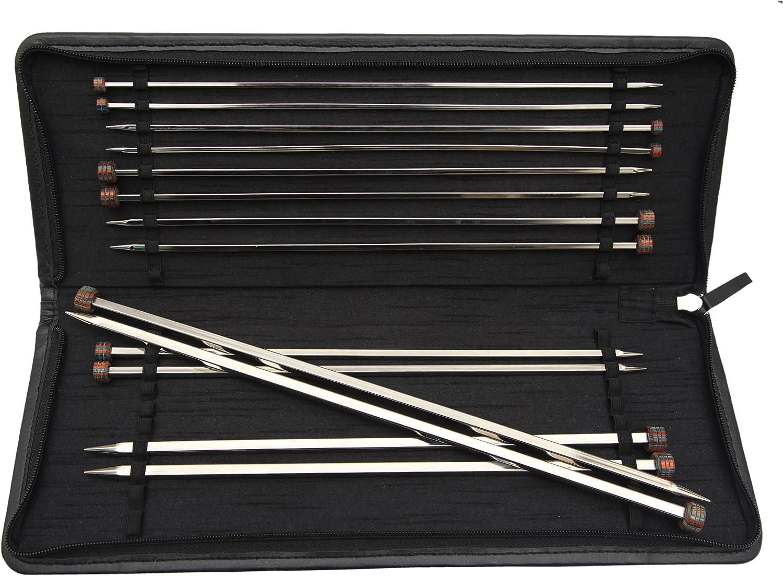 KnitPro 30 cm x 6 mm Nova Cubics Aiguilles /à simple pointe en laiton brillant