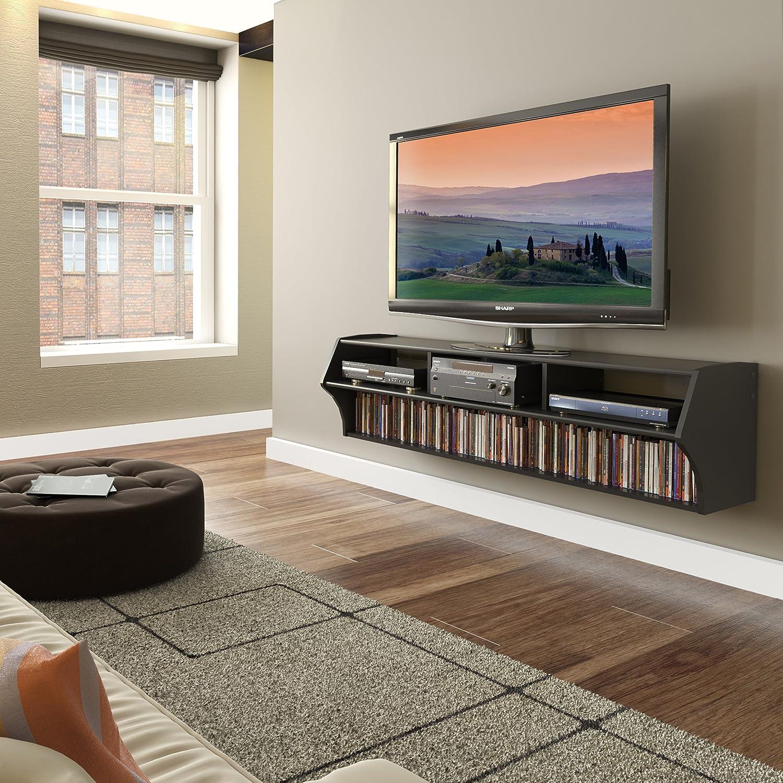 Black Altus Plus 58 Floating TV Stand