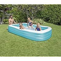Mavi Dikdörtgen Şişme Çocuk ve Aile Havuzu 305x183x56 cm - İntex