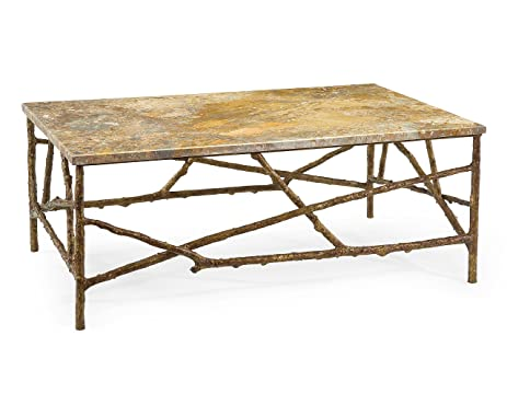 Amazoncom John Richard Branch Cocktail Table With Marble Top EUR - John richard coffee table