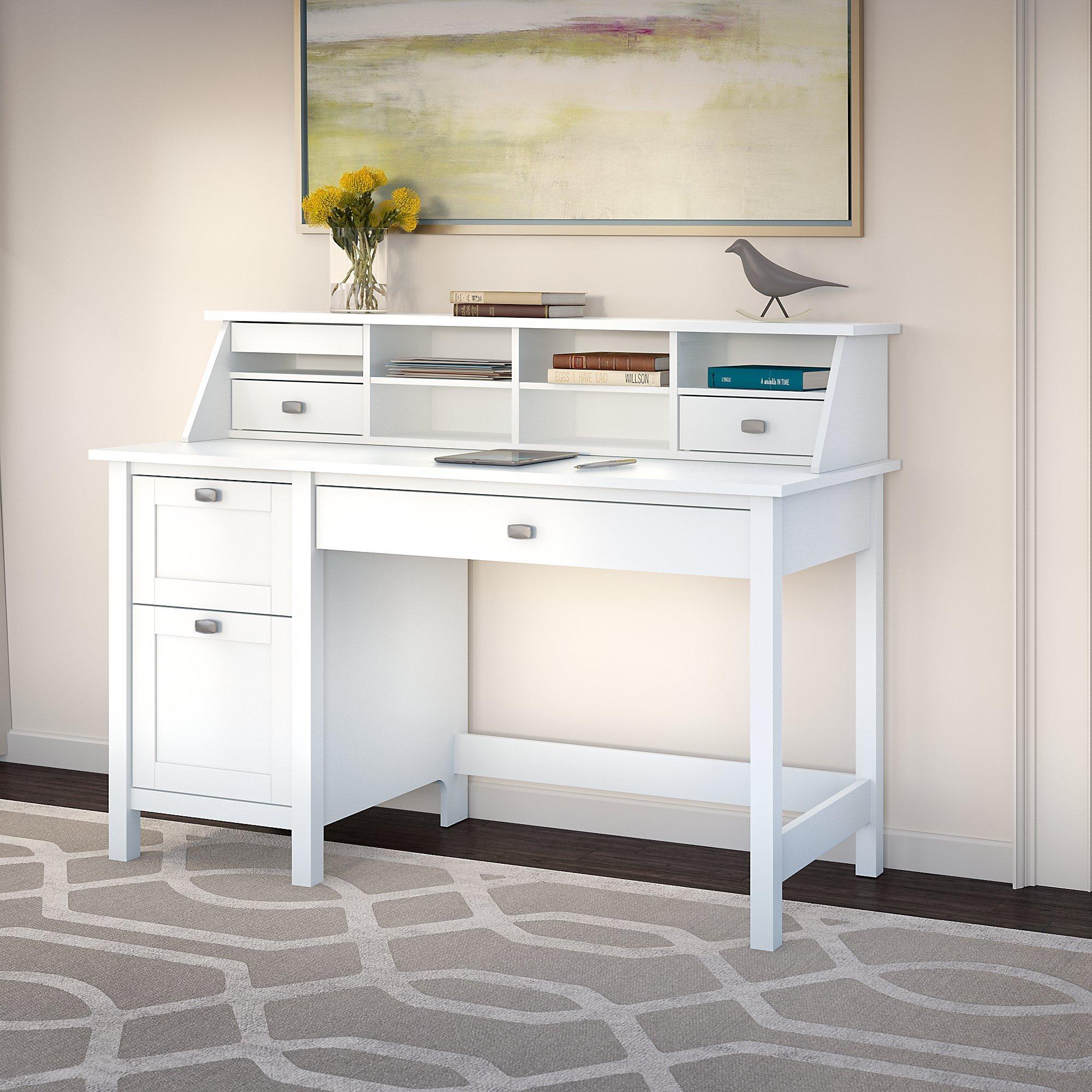Bush Furniture Computer Desk, Pure White by Bush Furniture