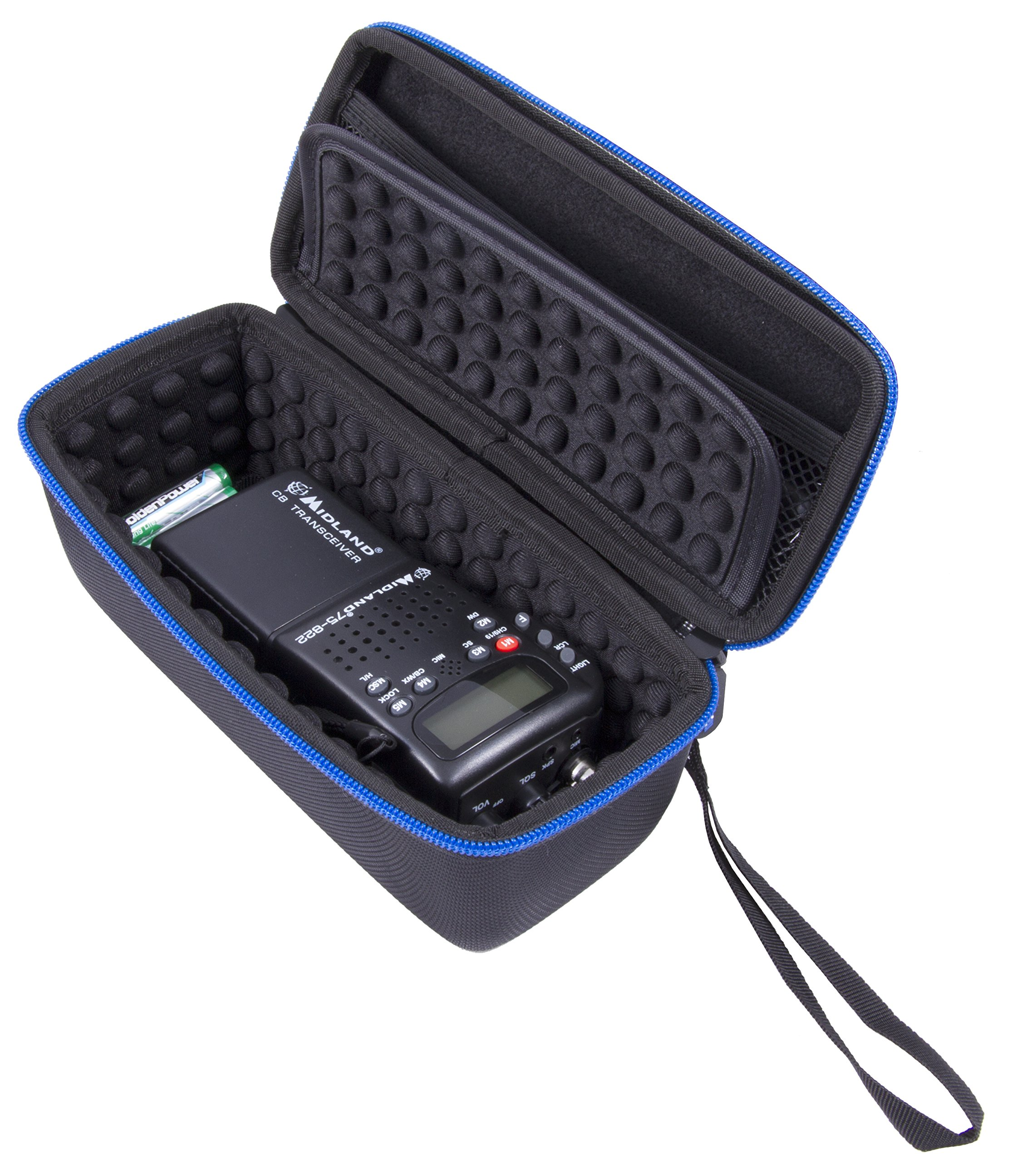 CASEMATIX Radio Case fits One Midland or Uniden CB Radio – Holds Midland 75-822, Uniden BC75XLT, Midland 75-785 and Uniden BCD436HP 40 Channel CB-Way Radio