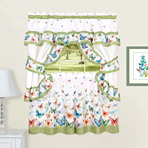Sweet Home Collection Treatment Kitchen Curtain Window Panel (5 Piece) 36