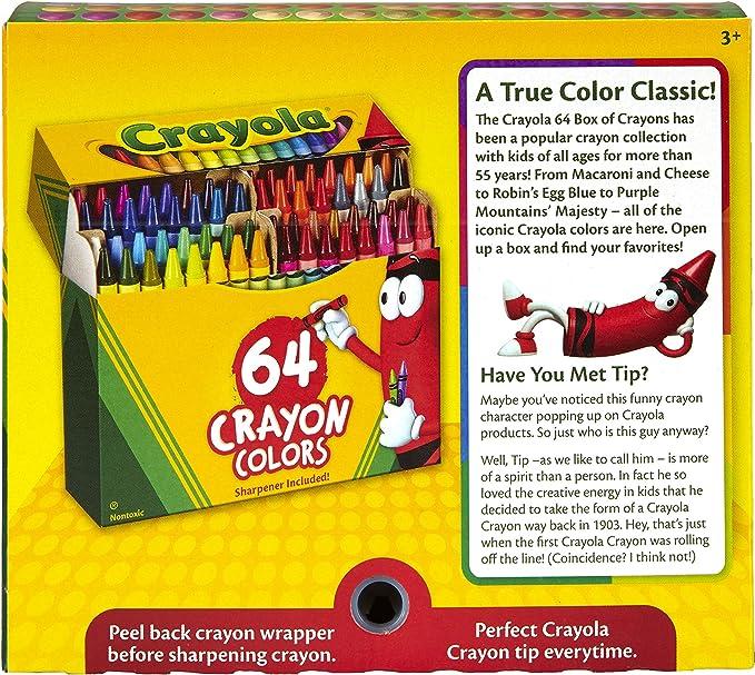 Crayola Pets 64 pastelli a cera  CRA52-1164  Crayola