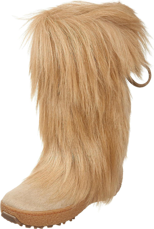 Scarlet Tassle Tie Goat Hair Boot