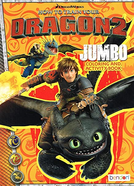Amazon.com: How To Train Your Dragon 2 - One Varied Jumbo Coloring And  Activity Book - 96 Pages: Toys & Games