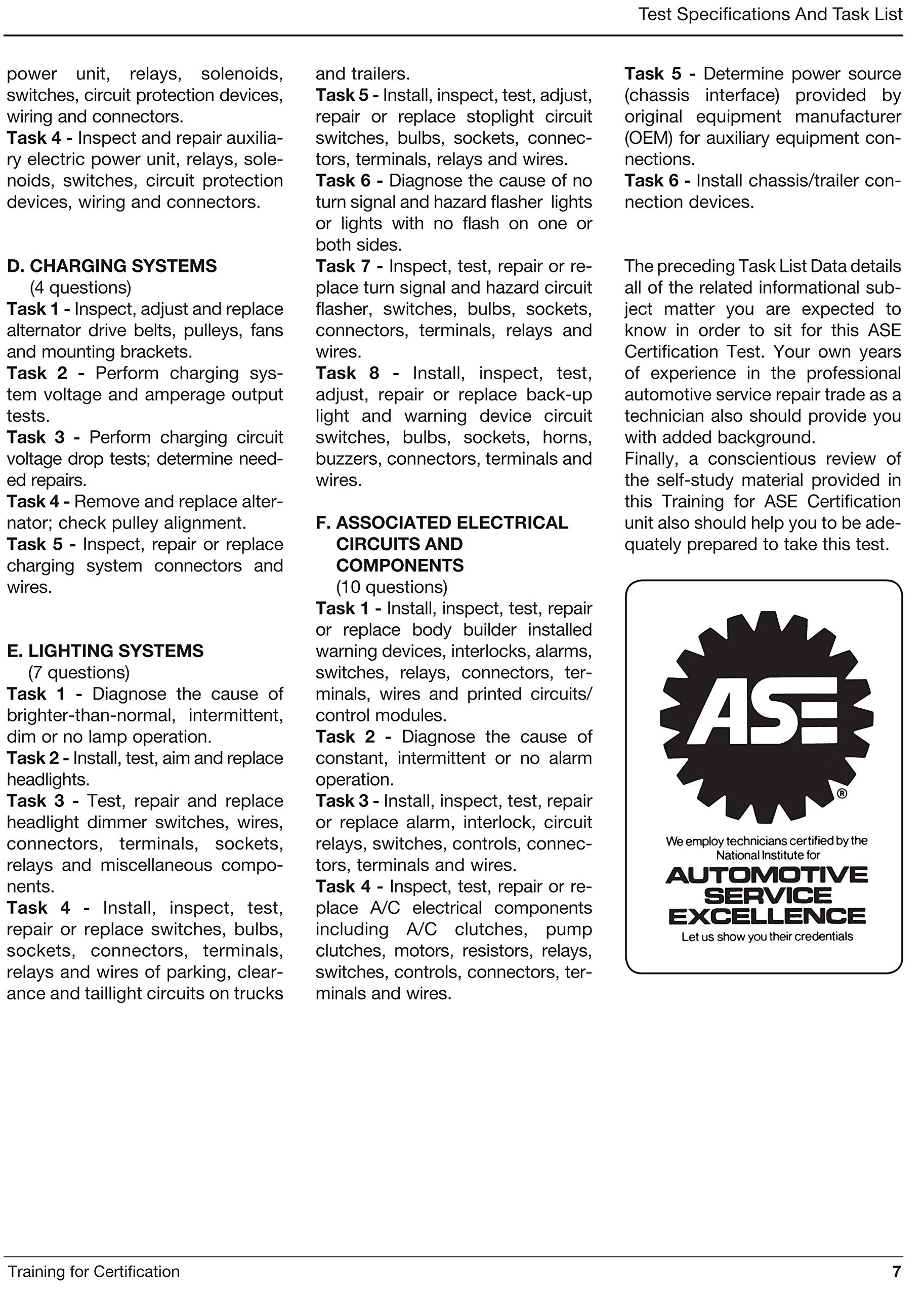 Ase Certification Test Preparation E2 Electrical Electronic Circuits Automotive Training And Systems Installation Repair Study Guide Motor Age Staff 9781933180168 Books