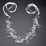 MA STRAP Handmade Crystal Rhinestones Headband Floral Headpiece Wedding Bridal Hair Accessories