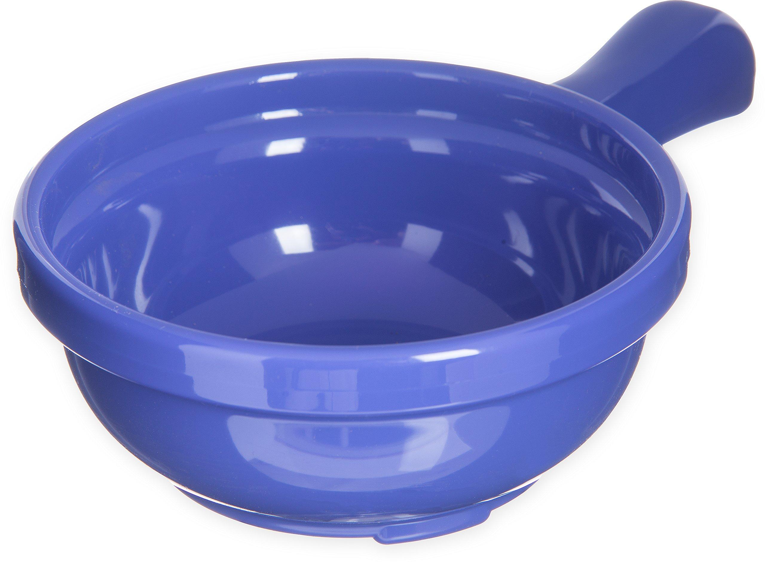 Carlisle 700614 Plastic Handled Soup Bowl, 8 oz., Ocean Blue (Pack of 24)
