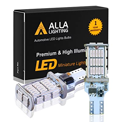Alla Lighting 912 921 Red LED 3rd Brake Lights Bulbs CAN-BUS Xtreme Super Bright 4014 48-SMD RV Car 912 W16W T15 Center High-Mounted Stop Lights Cargo Lights: Automotive