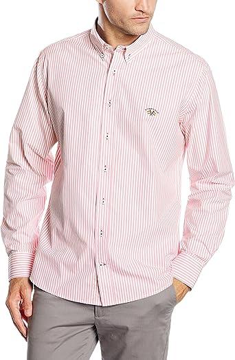 Spagnolo Camisa Popelin 0025, Raya Rosa Y Blanco, 01 para Hombre: Amazon.es: Ropa y accesorios