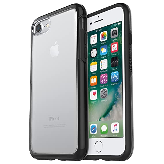super popular 9ec65 ce27b OtterBox 77-53952 Symmetry Clear Case for iPhone 7/8 - Black Crystal