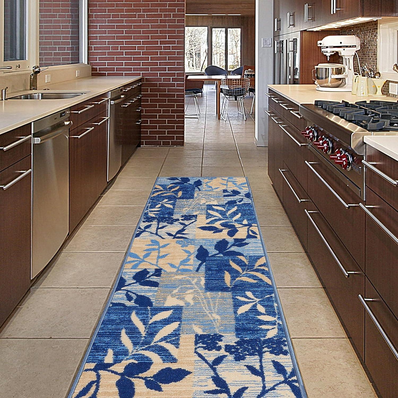 Diagona Designs Contemporary Chevron Design Non-Slip Kitchen/Bathroom / Hallway Area Rug Runner, 20