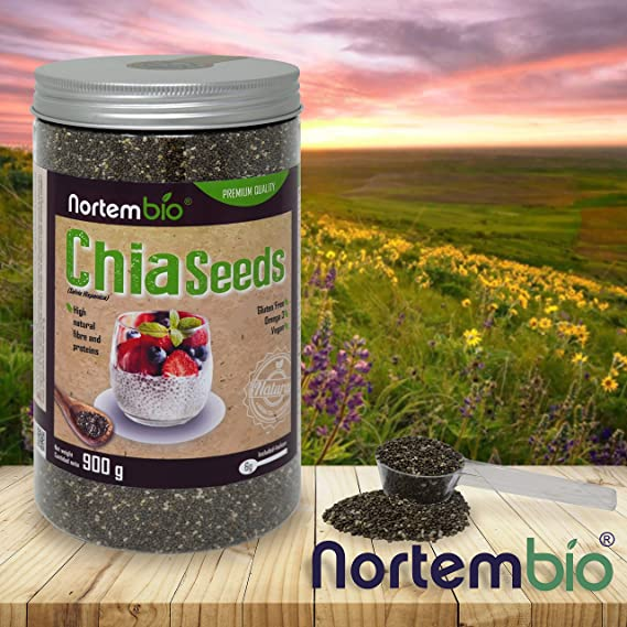 Semillas de Chia (Salvia hispanica) NortemBio 900g, Calidad ...