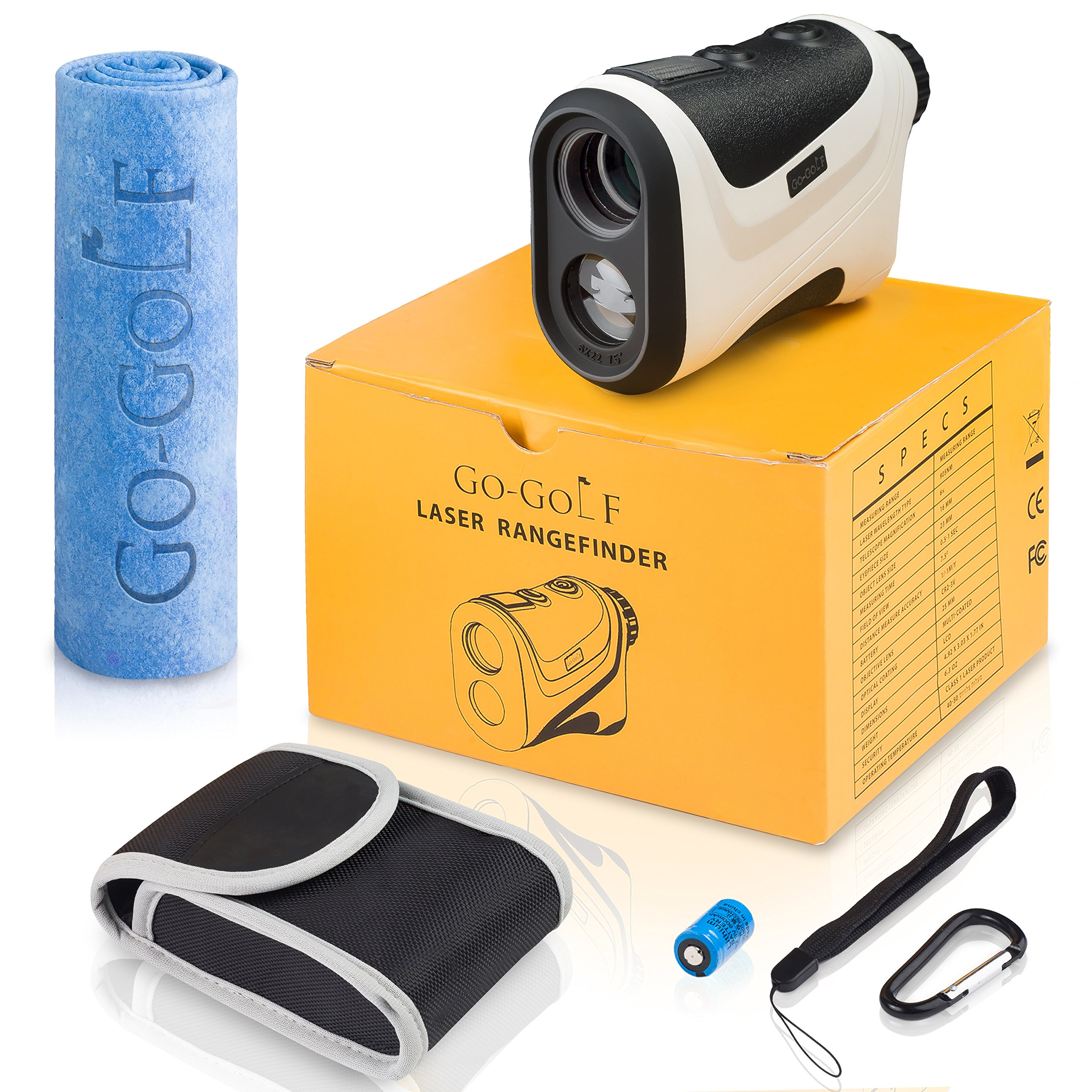 Go-Golf Golf Rangefinder | Laser Range Finder With Pin Sensor & Pulse Tech | Easy To Use, Compact, Accurate & Clear Reading | Golf Binoculars Yardage Rangefinder by Go-Golf