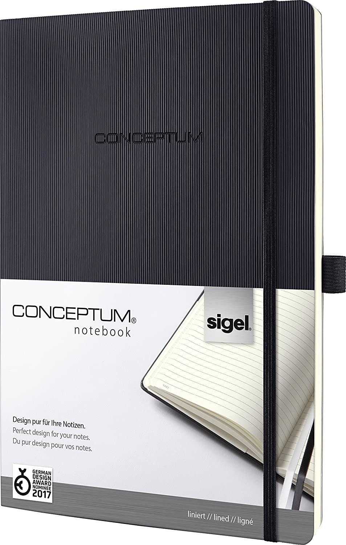 Sigel CO301 Conceptum Libreta / Cuaderno, tapa flexible, 22.3 rayado, x 31.1 cm, rayado, 22.3 negro 56b32d