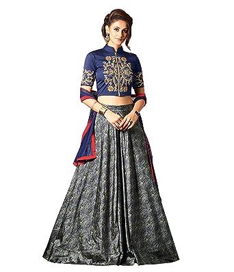 8667efb5471 Amazon.com  Beautiful Blue Colored Silk Indo-western Suit  Clothing