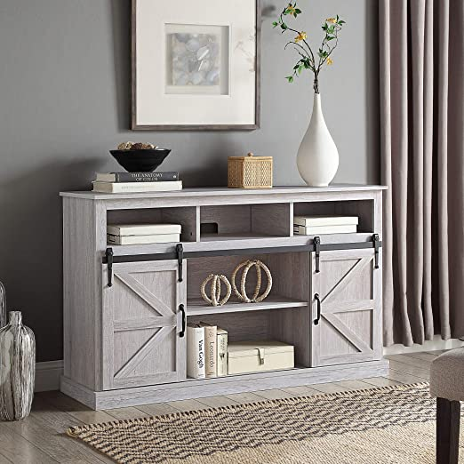 2. BELLEZE Modern Farmhouse TV Stand