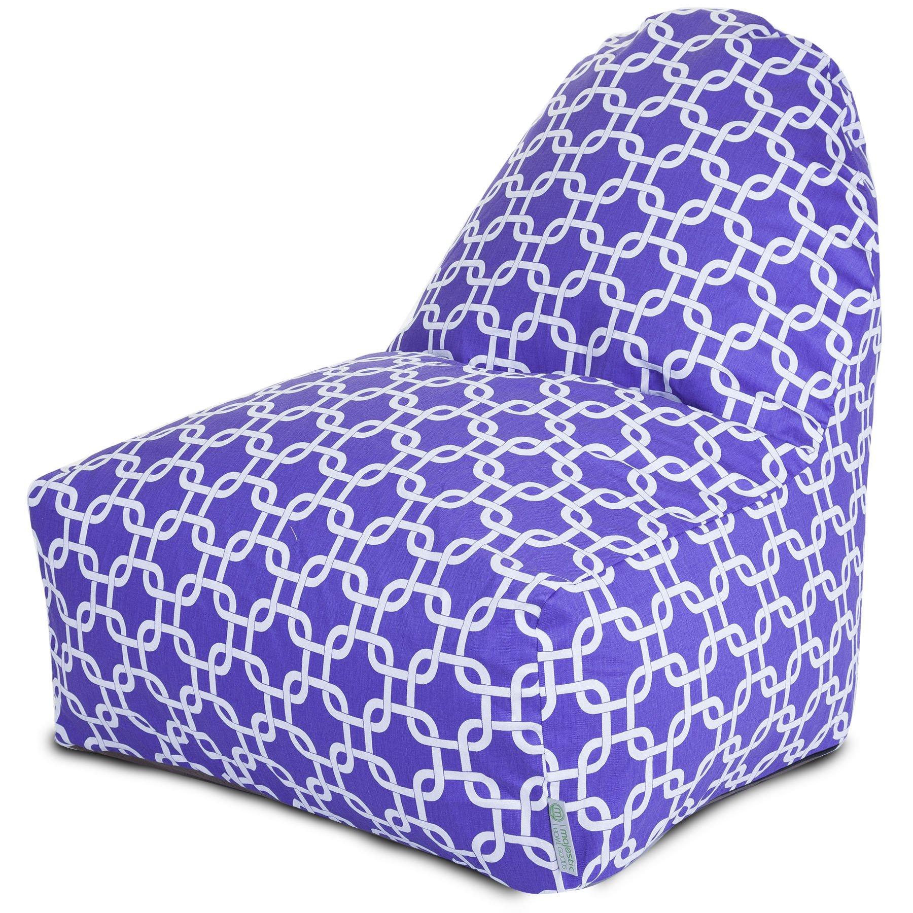 Majestic Home Goods Purple Links Kick-It Chair