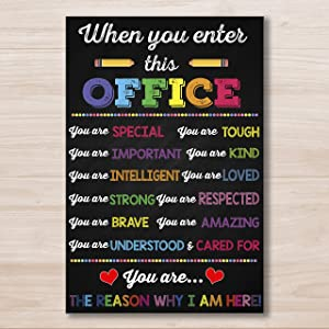 AprilLove When You Enter This Office You are Special Poster, School Counselor Poster, Office Decor, Chalkboard Sign, Therapist Decor