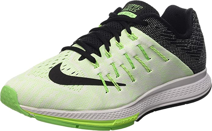 Nike Air Zoom Elite 8, Zapatillas de Running para Hombre, Negro/Verde/Blanco (Sail/Black-Ghst Green-Vltg Grn), 42 EU: Amazon.es: Zapatos y complementos