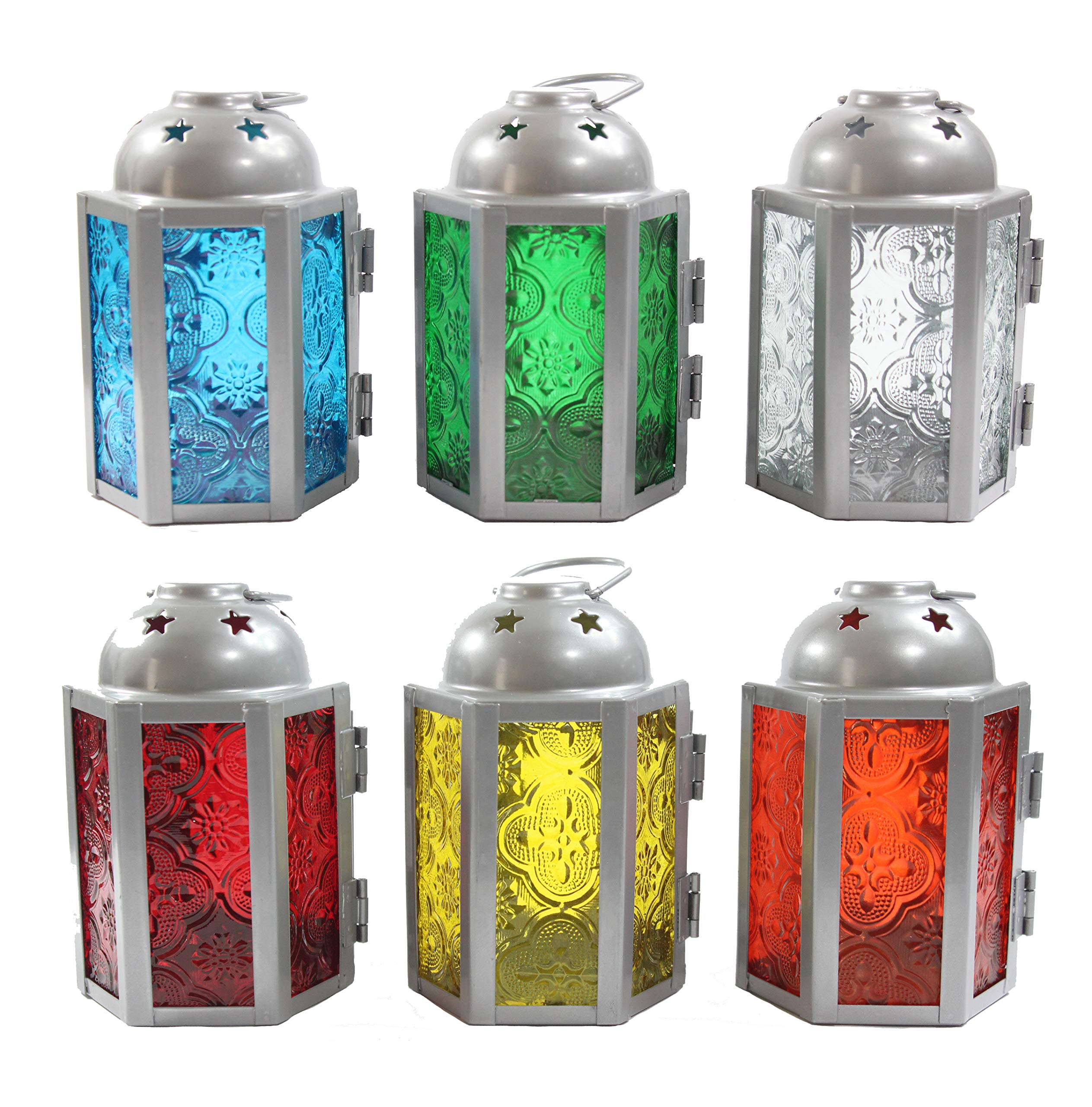 6pc Assorted Mini Moroccan Tealight Candle Lanterns