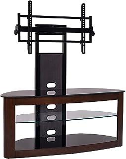 Amazon Com Transdeco Td685db 35 85 Curved Wood Tv Stand Dark Oak