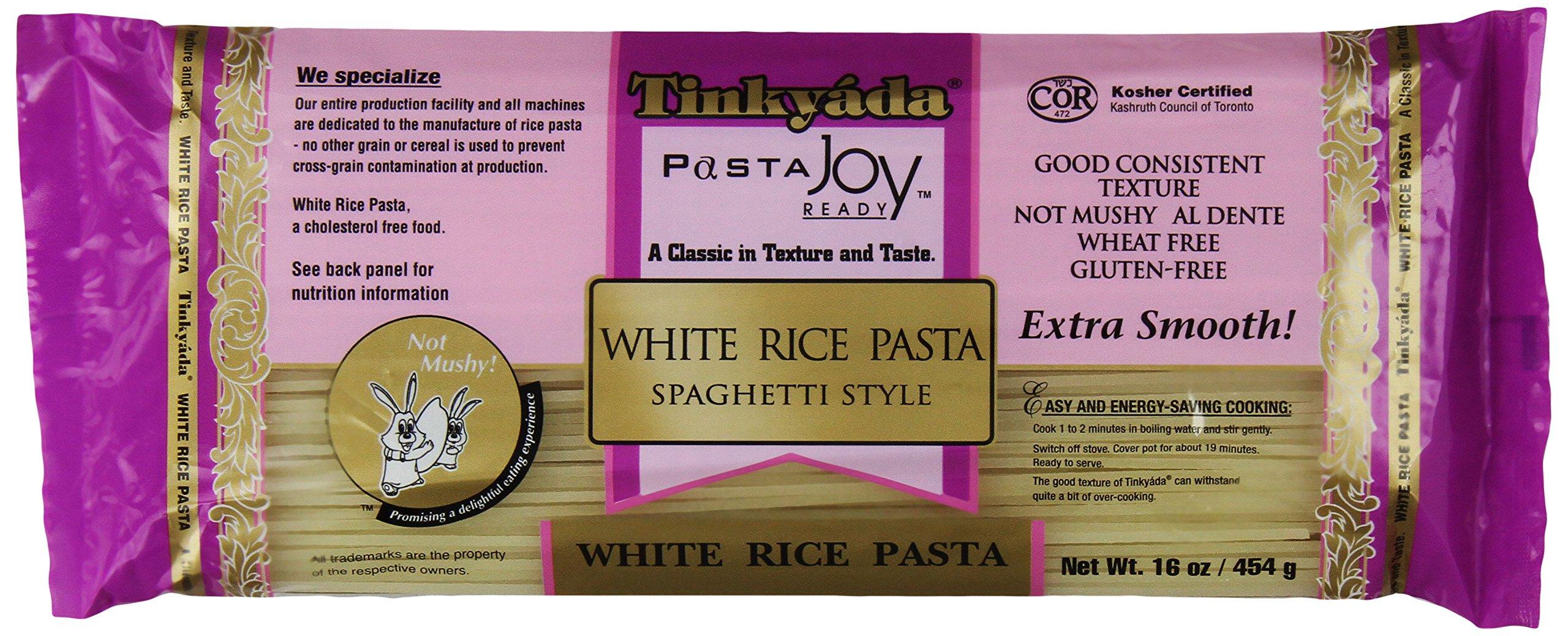 Tinkyada White Rice Spaghetti, 16 Ounce (Pack of 12) by Tinkyada