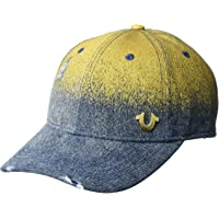 True Religion Mens Metallic Denim Baseball Cap