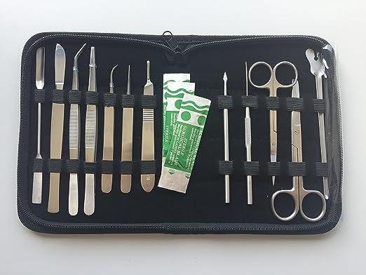 2 opinioni per Astuccio per dissezione, kit di 12 strumenti professionali in acciaio INOX per