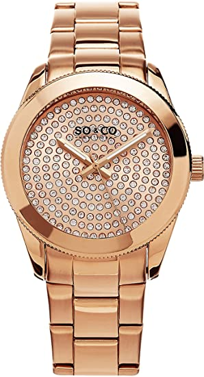 SO & CO New York Madison 5067.3 - Reloj de pulsera Cuarzo Mujer correa deAcero inoxidable