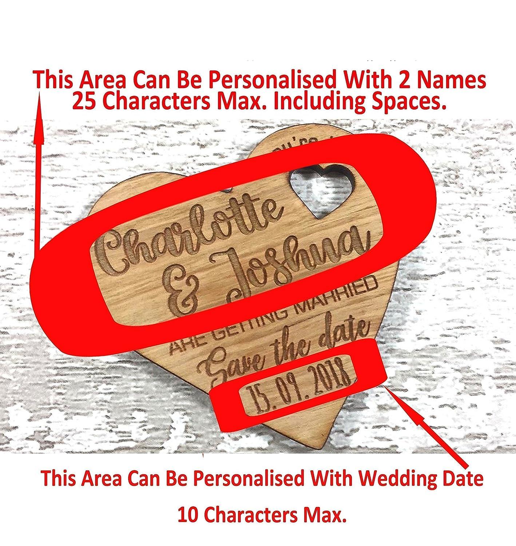 Personalised Wedding Invitation Cards Fridge Magnets - Personalised ...