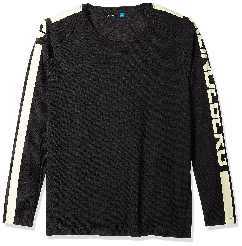 J.Lindeberg Men's Double Mesh Ls Athletic Shirt 82MA563365705