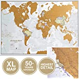 Maps International Scratch The World Travel Map - Scratch Off World Map Poster - Most Detailed Cartography - X-Large 33…