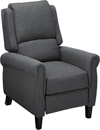Christopher Knight Home Haddan Fabric Recliner, Charcoal