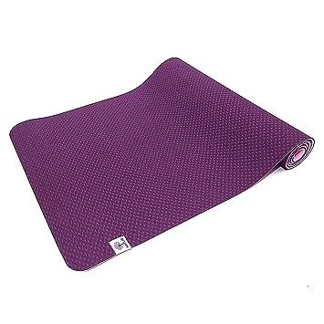 TechFit Colchoneta de Yoga 6mm Antideslizante, Fitness, Pilates, Gimnasio y Camping, Duradera (Violet)