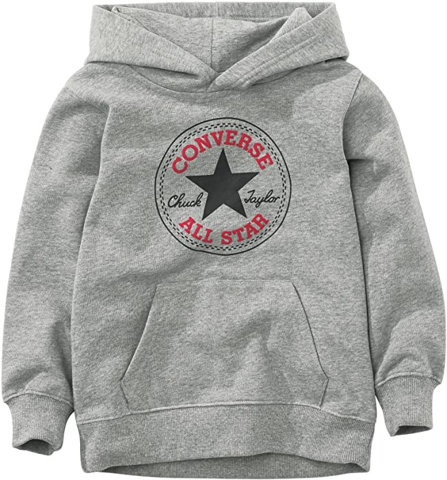 Converse All Star Large Logo Over Head Hoodie Kids Grey