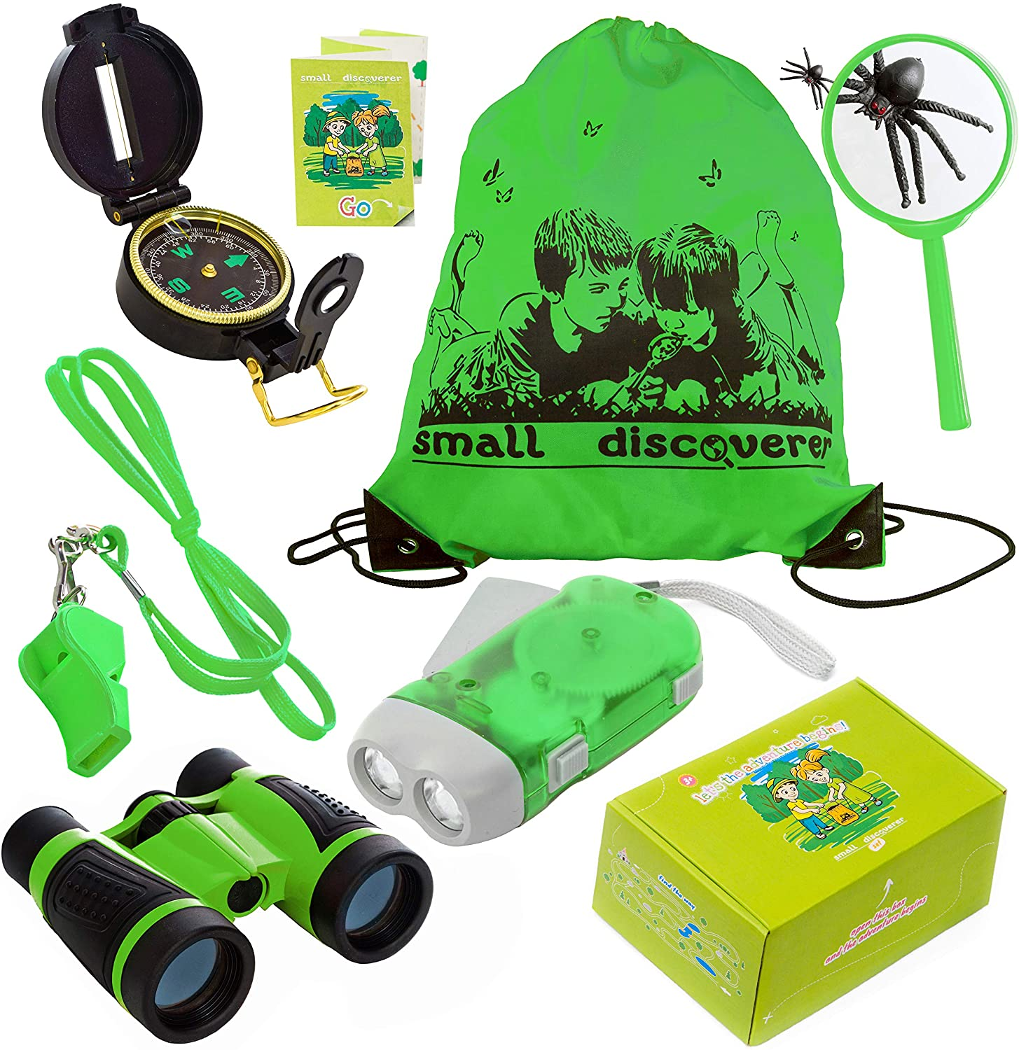 Small Discoverer Outdoor Exploration Set - Perfect 3-12 Year Old boy Toys and Girl Toys - Kids Adventure Pack - Good Birthday Children Outdoor Educational Kit