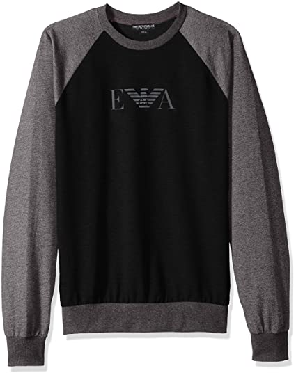 super popolare 3dba3 e1593 Emporio Armani Men's Melange Mix Terry Sweater Pullover