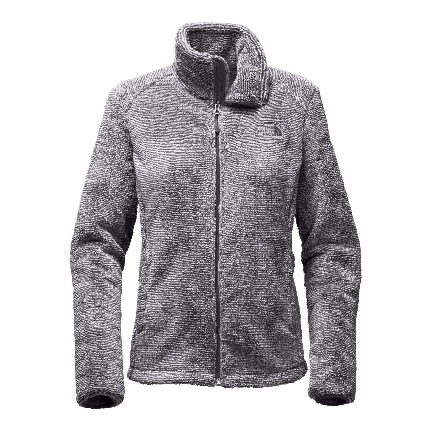 The North Face Women's Osito 2 Jacket - Weathered Black & Vintage White Stripe - M