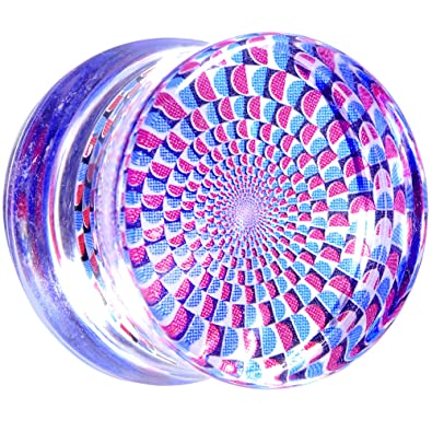 "Body Candy Acrílico Transparente Ilusión Óptica Dilatador (1 Pieza) 5/8"""