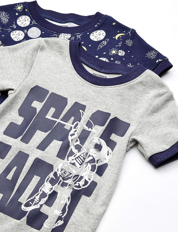 Spotted Zebra Unisex Baby 4-Piece Snug-fit Cotton Pajama Short Set 4er-Pack