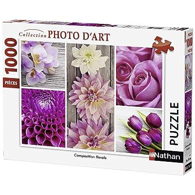 Nathan 87456 - Puzzle - Composition florale - 1000 pièces