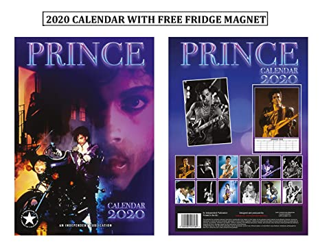 Prince Calendar 2020 Amazon.: Prince Calendar 2020 + Prince Refrigerator Mag