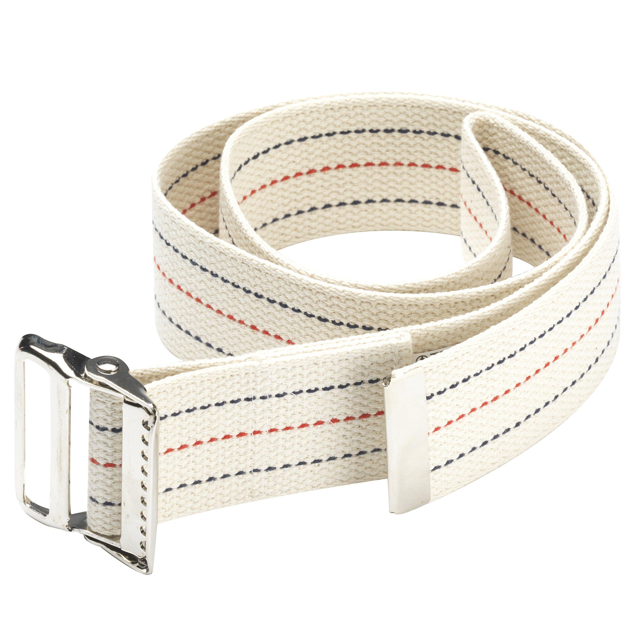 OTC Gait Transfer Belt Support Hold for Caregiver, White, 60 inch